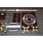 "New Vito's 2"" Banshee Rear Setup Axle Carrier Rotor Hubs Sprocket 41 Tooth"